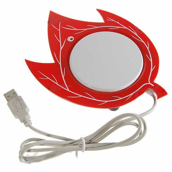 USB Šildytuvas Puodeliui - Klevo Lapas