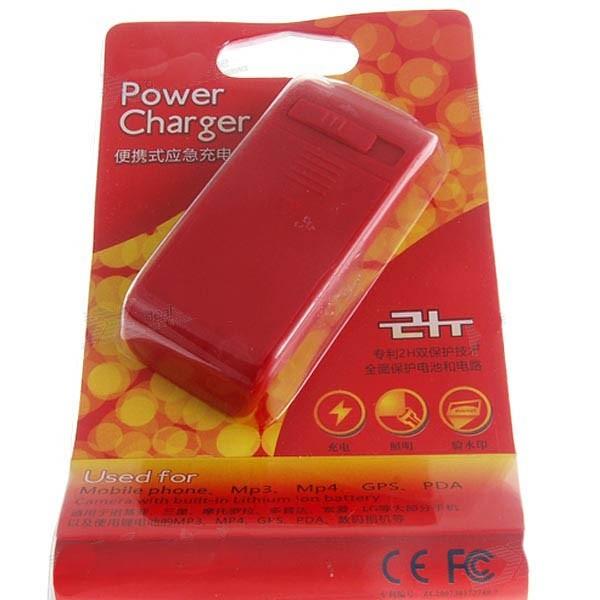 3-in-1 Avarinis Mobiliųjų Telefonų Kroviklis Iš AA Baterijos Su LED ir UV šviesomis