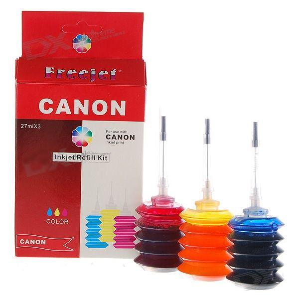 Canon Refill Kit Spausdintuvų Kasečių Spalvotas Rašalas (3*27ml)