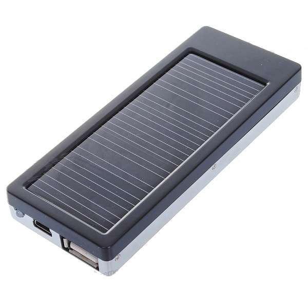 2000mAh Saulės Baterija - Kroviklis Telefonams. LED žibintuvėlis
