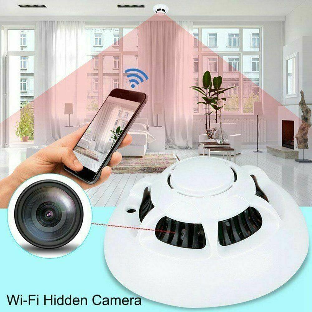 Slapta Wifi Kamera - Dūmų Detektorius (1080P HD, P2P, Judesio aptikimas)