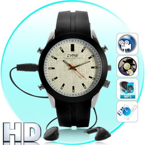HD 4Gb Laikrodis - Slapta Kamera + MP3 Grotuvas