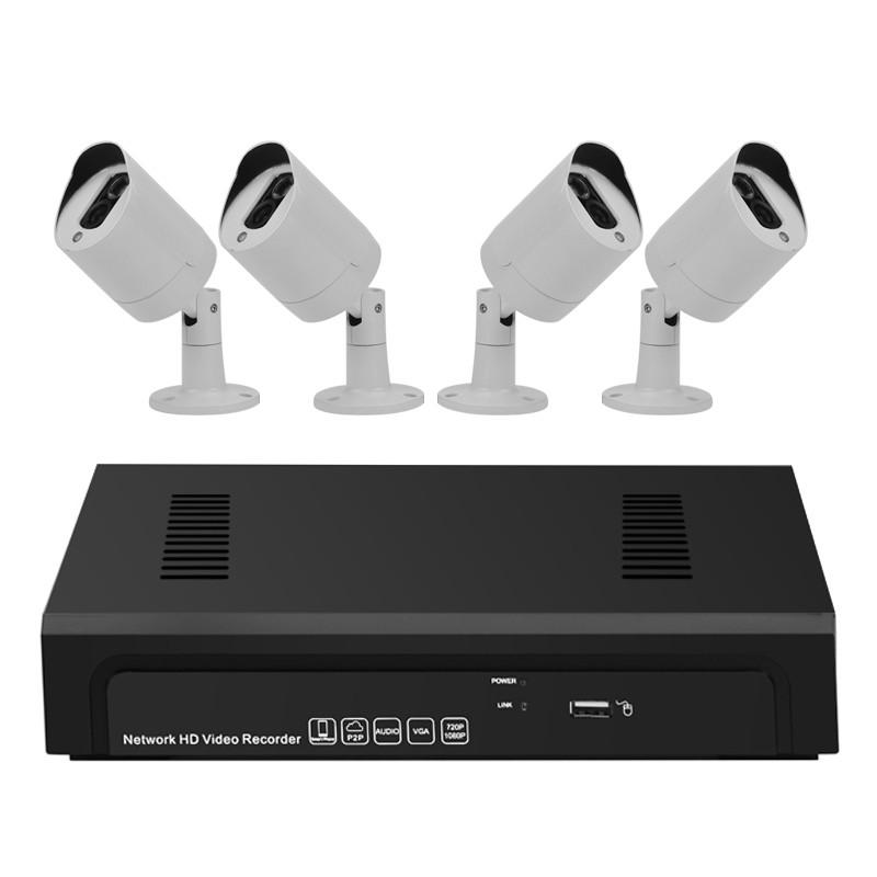 """4 PoE Kamerų (1080p) Komplektas Su Vaizdo Įrašymo Įrenginiu """"Sentinel Pro"""""""