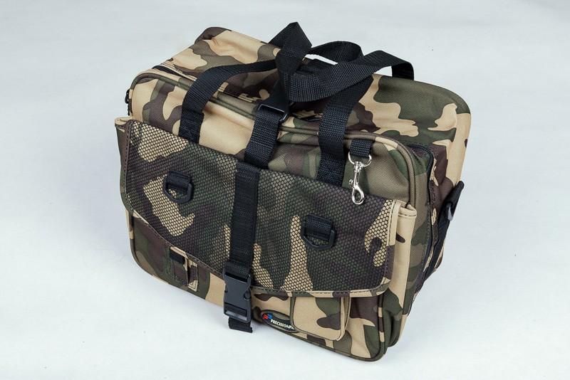 Plačiai atsegamas krepšys Stalker II