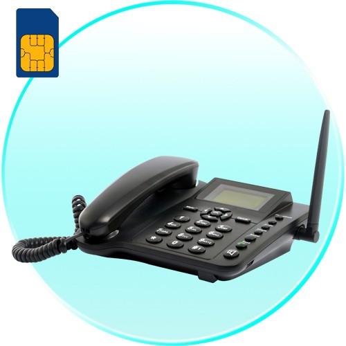 Mobilusis laidinis telefonas su sim kortele