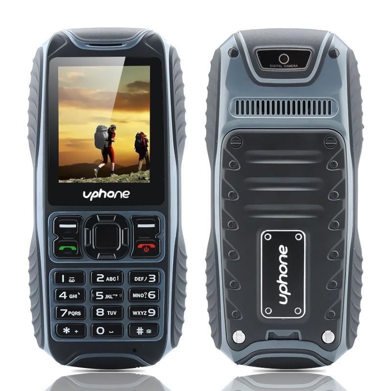 Darbinis Mobilusis Telefonas Uphone U3A IP67 (Atsparus dulkėms, smūgiams, drėgmei), Micro SD, Kamera, FM radijas