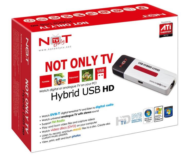 Skaitmeninės/analoginės TV imtuvas HYBRID USB HD LV5HD
