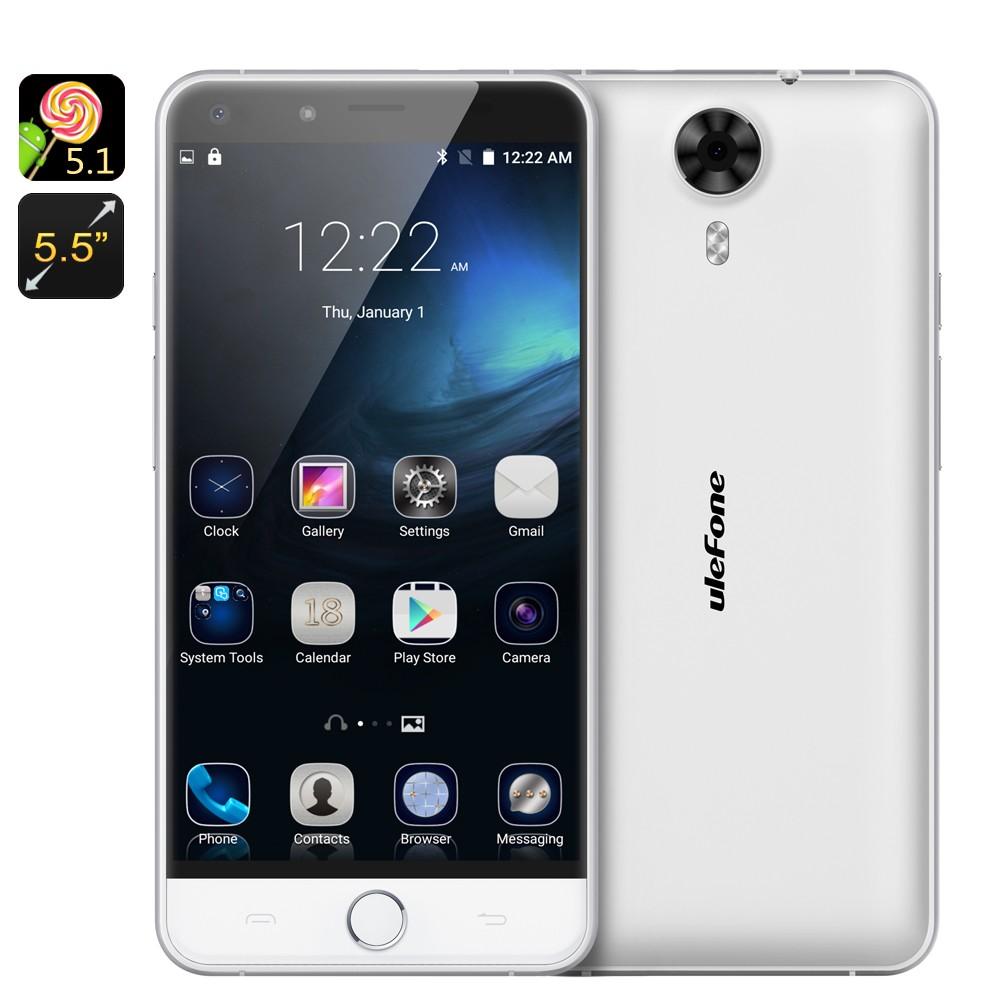 """Išmanusis Telefonas """"Ulefone Be Touch"""" - 5.5"""" Gorilla Glass 3 ekranas, 2SIM, Android 5.1, 3Gb RAM, 8 branduolių Octa Core CPU"""
