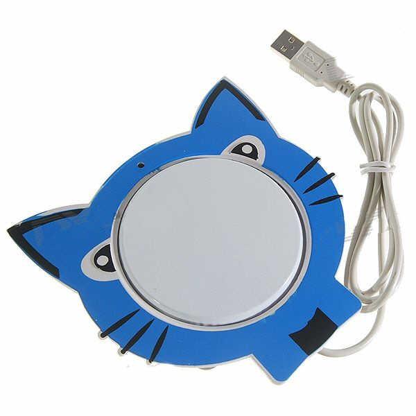 USB Puodelio Šildytuvas - Katinėlis