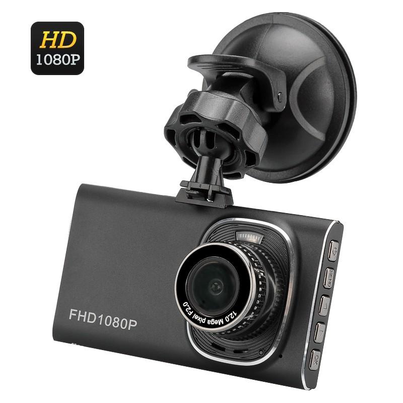 """Vaizdo Registratorius 5Mp Car DVR - 1080p Full HD, 3"""" Ekranas, 120' filmavimo kampas, G-sensorius"""