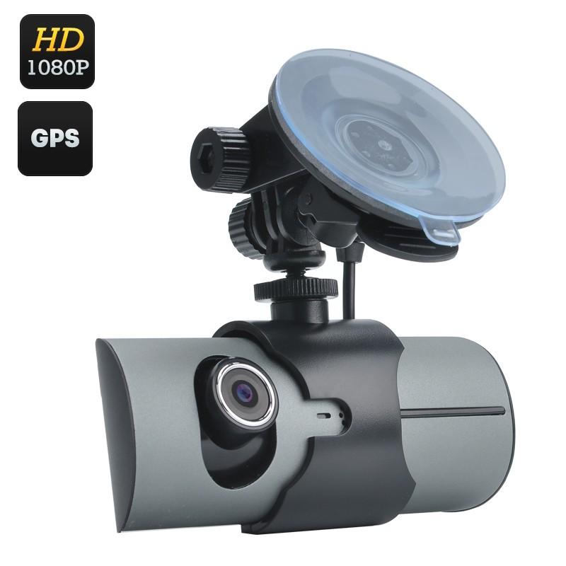 "Vaizdo Registratorius su 2 Kameromis (2.7"" LCD, GPS, G-Sensor, HD 1080p)"