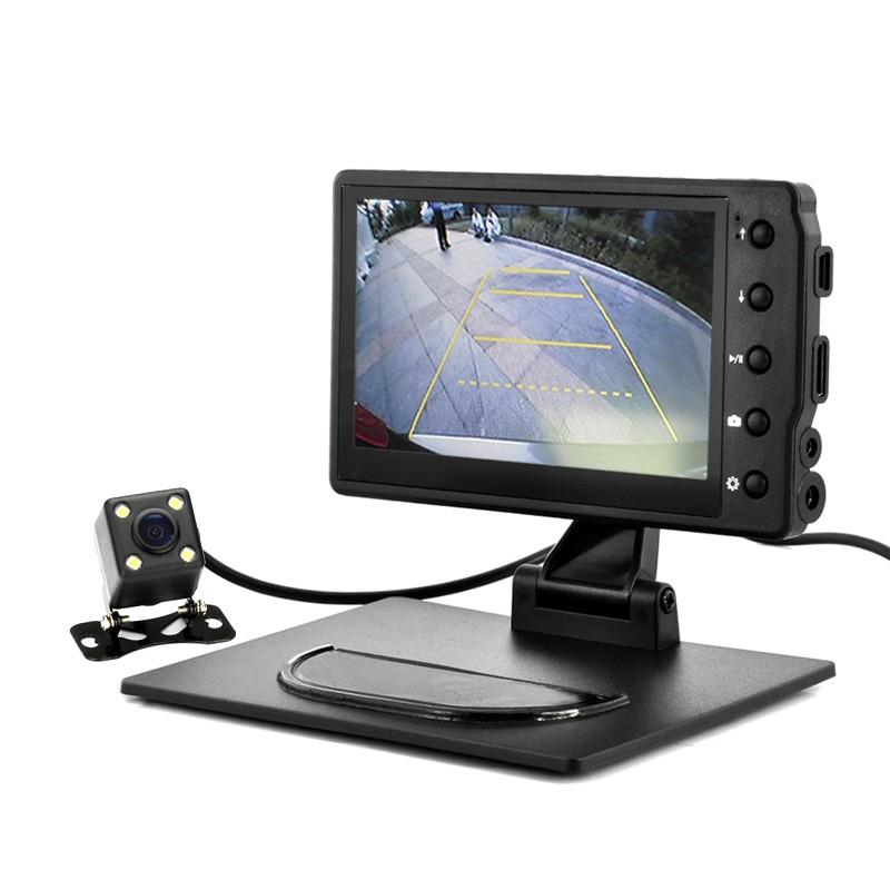 """Video Registratorius Su Wifi Galinio Vaizdo Kamera - Black Box (1080p, 4.3"""" ekranas, G-sensorius, Judesio aptikimas)"""