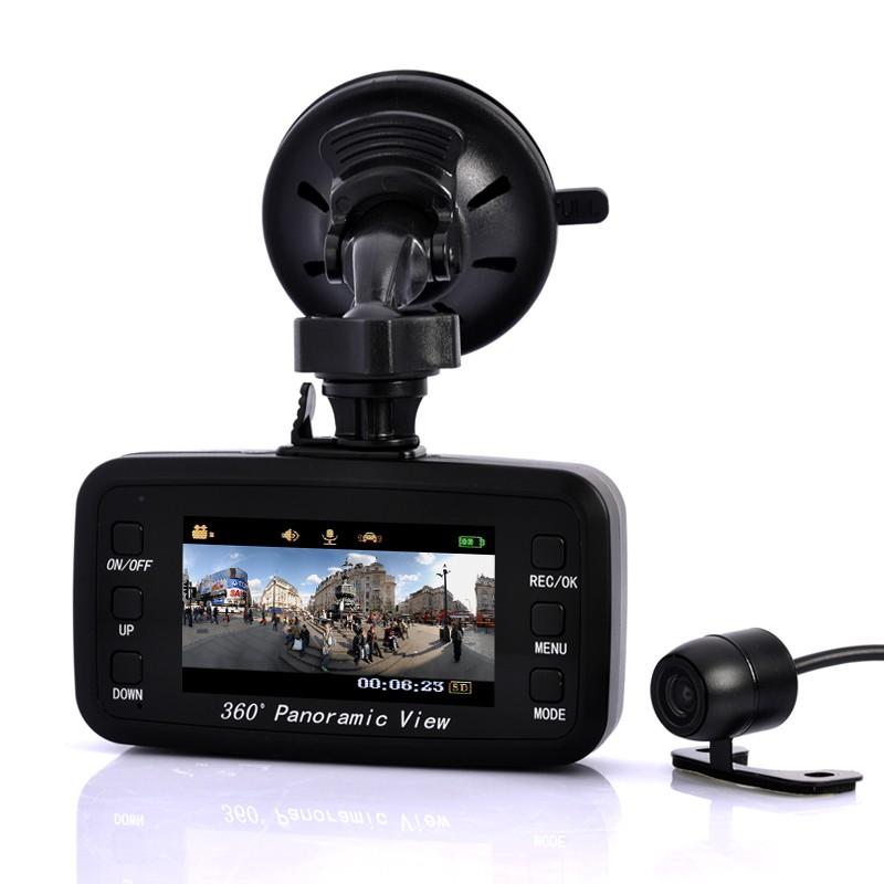 "Panoraminis Videoregistratorius ""Road View"" 360° (2 kameros, G sensorius, judesio detektorius)"