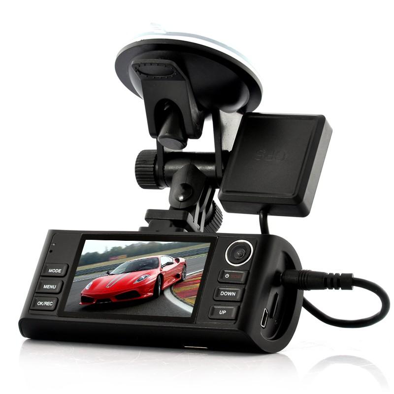 "Vaizdo registratorius ""Napravljat"" 1920x720 HD Dual Camera (GPS Logger, G-Sensor, Night Vision, HDMI Output, 4x Zoom)"