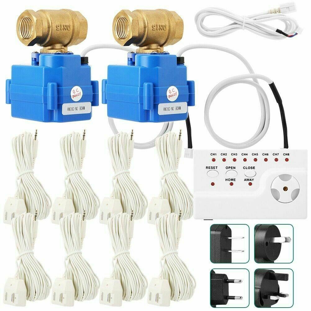 Vandens Nuotėkio Apsaugos Sistema (2 Automatiniai Ventiliai, 8 Nuotėkio Jutikliai)