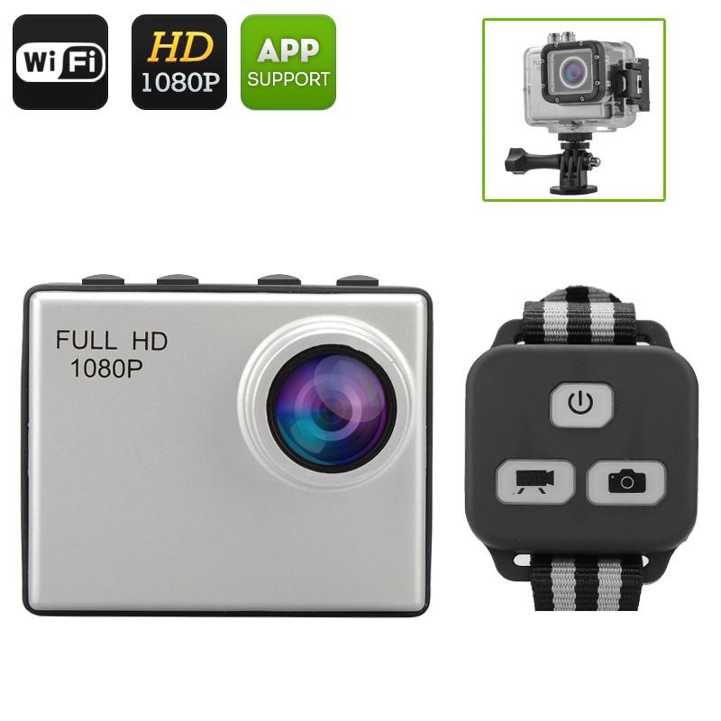 Veiksmo kamera Su Nuotoliniu Valdymu 12MP Sports Camera - 160 filmavimo kampas, 50m Waterproof, 2' ekranasm, Wi-fi