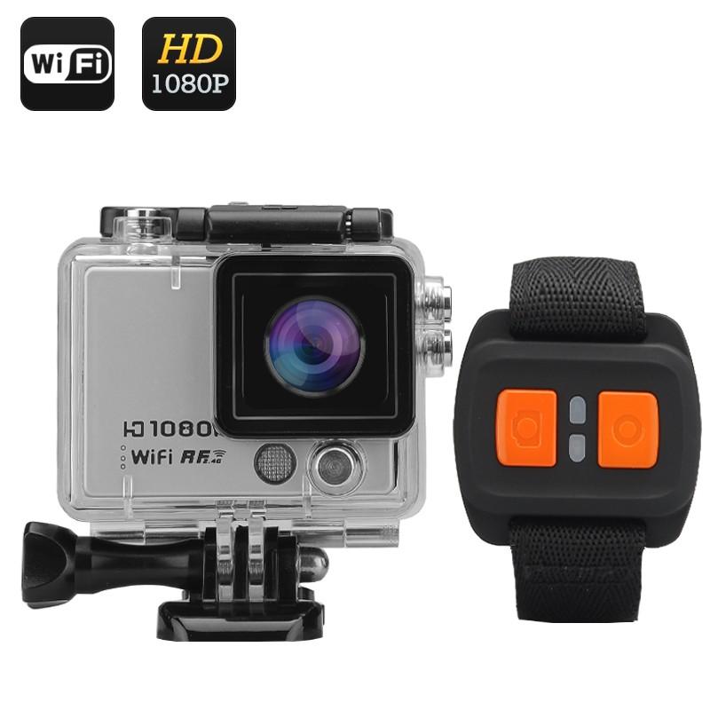 """Veiksmo Kamera Su Nuotoliniu Valdymu """"Flash X"""" - 1080p 60FPS, 12MP, Wi-Fi, 2"""" ekranas, 160° filmavimo kampas, IP68"""
