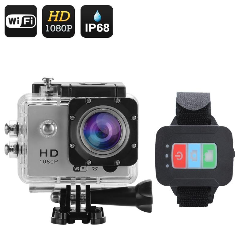 "Veiksmo kamera su pulteliu ""Q3"" Full HD 1080P - 170°, 12MP, 2"" LCS, Wi-Fi, iOs+Android App (Sidabrinė)"