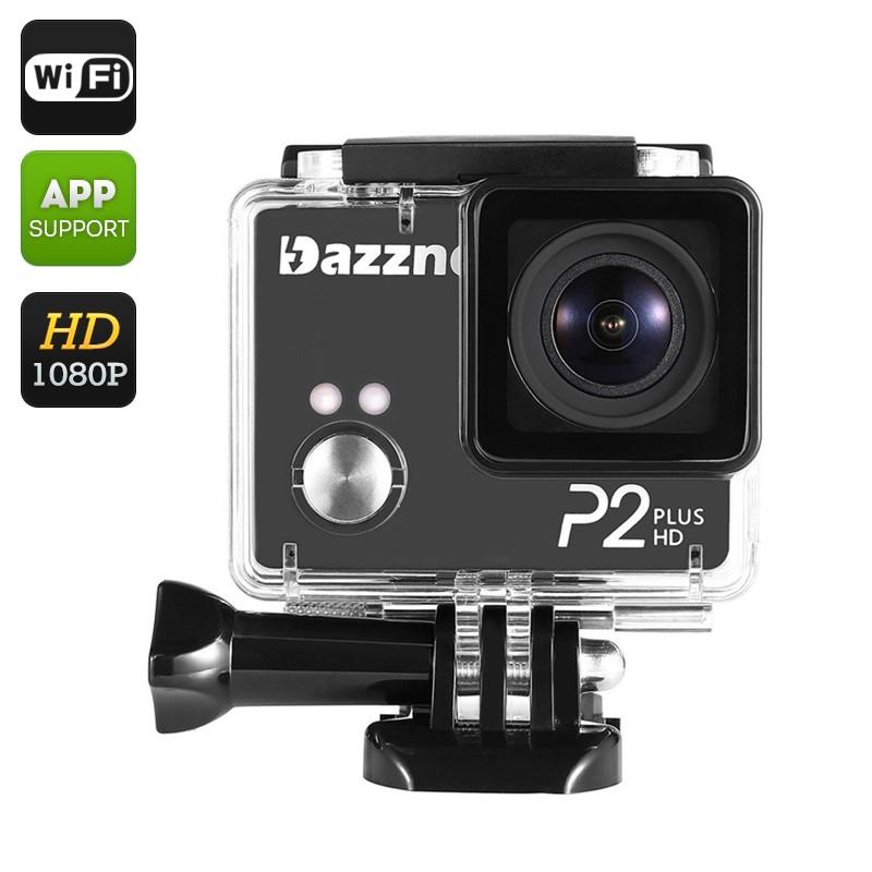 """Veiksmo kamera """"Dazne P2"""" - 2K HD, 170° Filmavimo kampas, Wi-Fi, Waterproof, 2"""" Ekranas"""