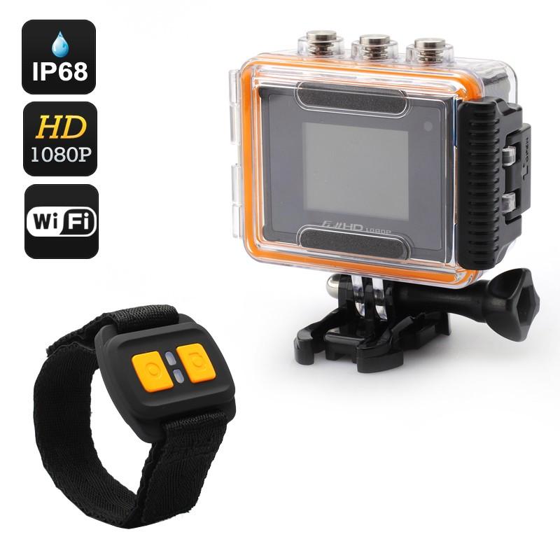 """Veiksmo kamera """"Purview"""" Su Nuotoliniu Valdymu - Full HD 1080p, 30FPS, Wi-Fi, 170 filmavimo kampas, IP68 Waterproof 50M"""