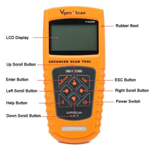 Klaidų Skaitytuvas Automobiliui Vgate Scan VS600 OBD2