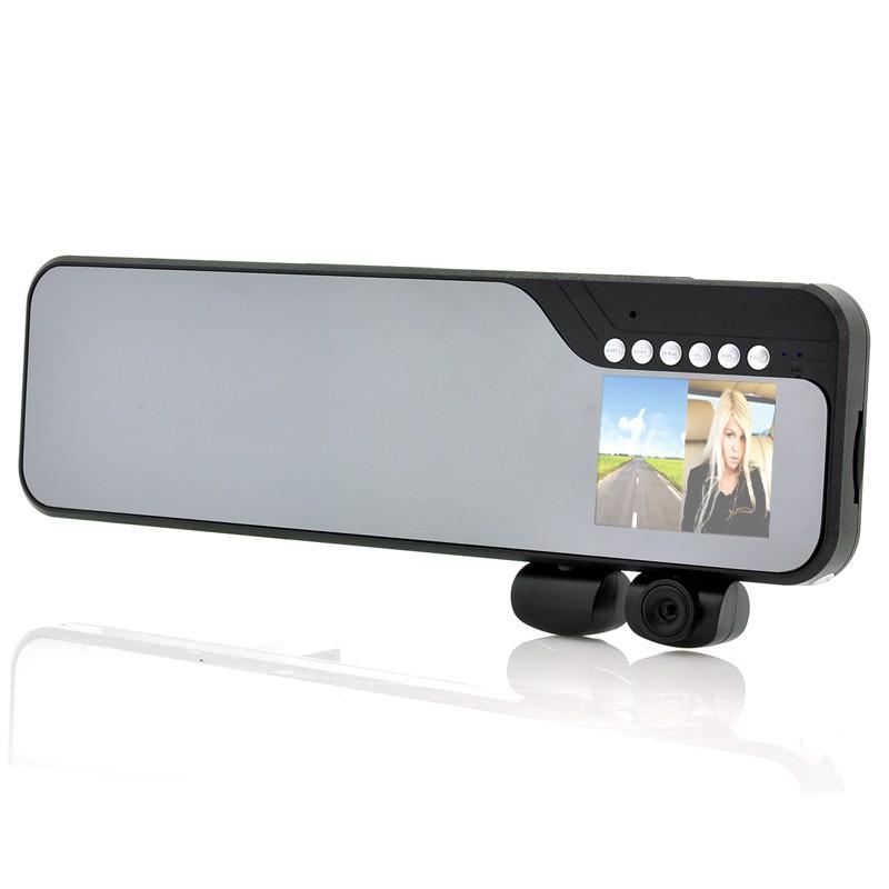 """Videoregistratorius DuoView (Galinio Vaizdo Veidrodis, 2 Kameros, 2,7"""" ekranas, Judesio Aptikimas)"""