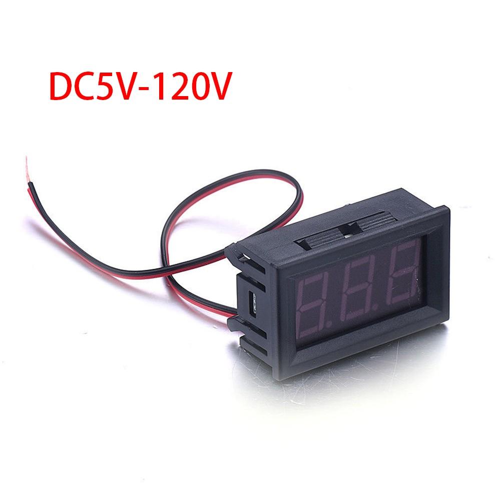 Skaitmeninis Voltmetras 5-120V DC Įtampai Matuoti (Mėlynas LED)