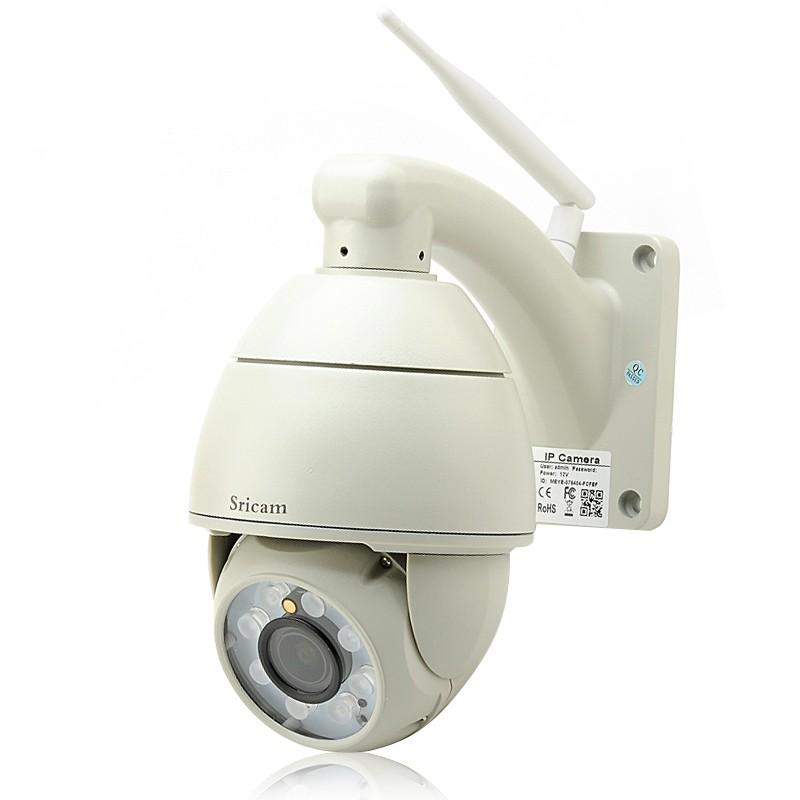 """PTZ Lauko Kamera Su Wifi """"Sricam"""" 1280x720 (P2P, H.264, Judesio aptikimas, 8X LED pašvietimas, 50m naktinis matymas)"""