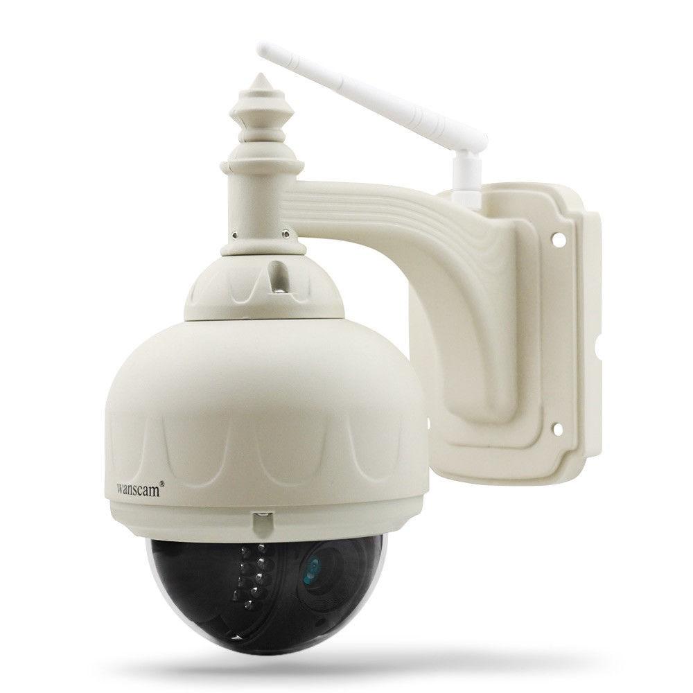 PTZ Lauko Wifi Apsaugos Kamera (-20ºC + 60ºC, 1Mp 720P, Onvif 2.0, 4X Zoom, NightVision 20m, Android, iOS Apps, SD įrašymas)