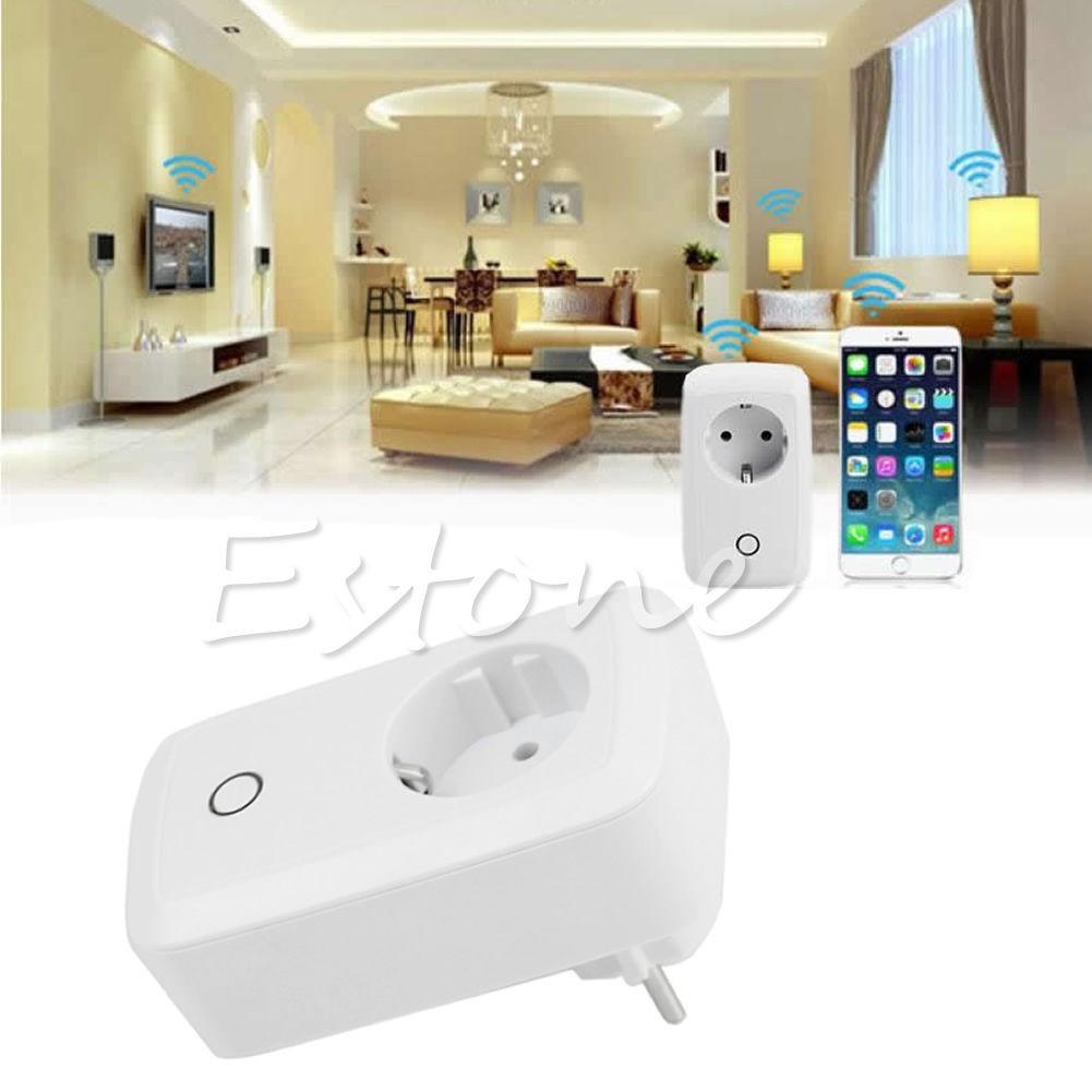 Išmanioji Wifi Nuotolinė Rozetė (2200W/220V/10A, Android+iOs palaikymas, 5V USB Jungtis)