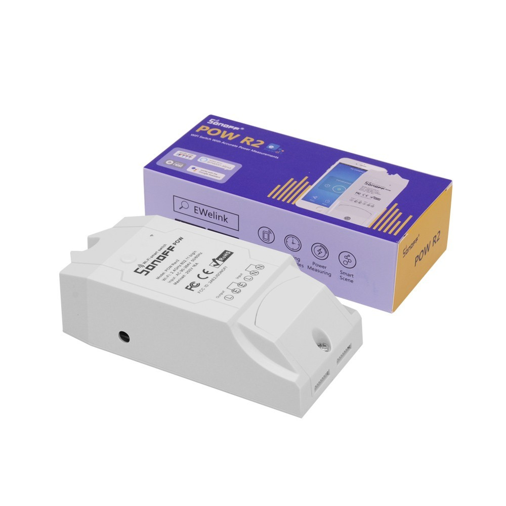 Išmanusis Wifi Elektros Jungiklis Sonoff Pow R2 Su Galios Matavimu (3500W 16A)