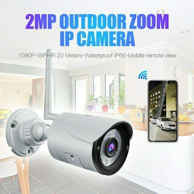 Lauko WIFI Apsaugos Kamera WANSCAM K22 (2MP 1920x1080 Raiška, Onvif 2.1, Judesio Aptikimas, MicroSD iki 128Gb)