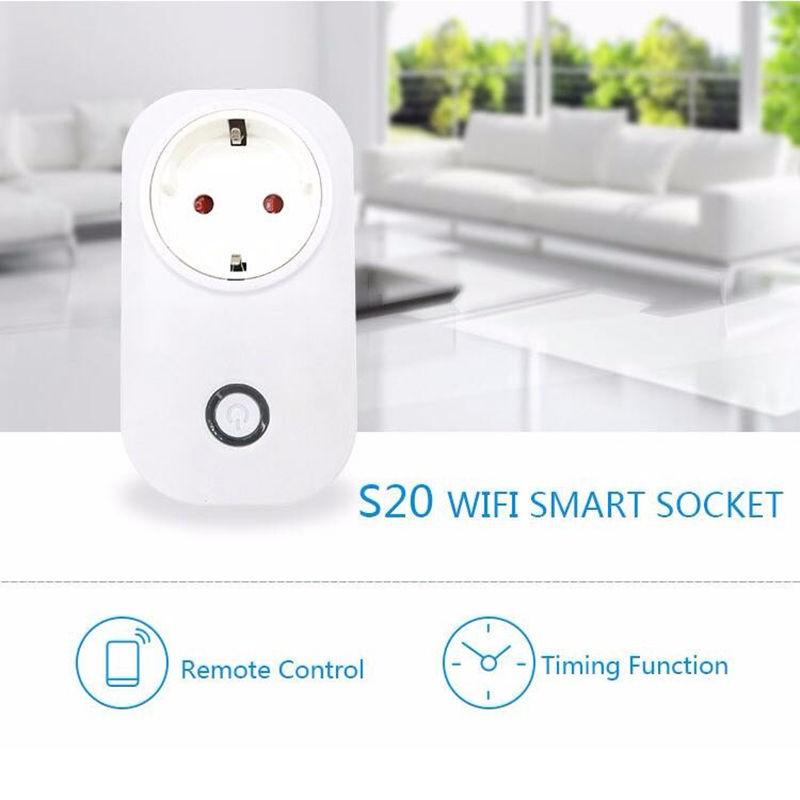 """Wifi Nuotolinė Išmanioji Rozetė """"Sonoff"""" S20 (2200W, 10A)"""