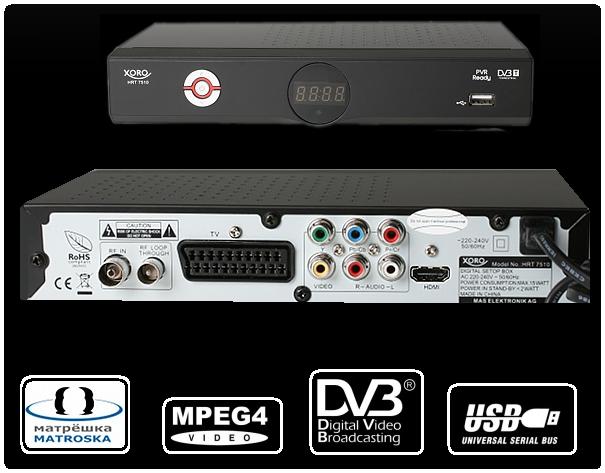 Skaitmeninės TV Priedėlis Xoro HRT 7510 (HD raiška)