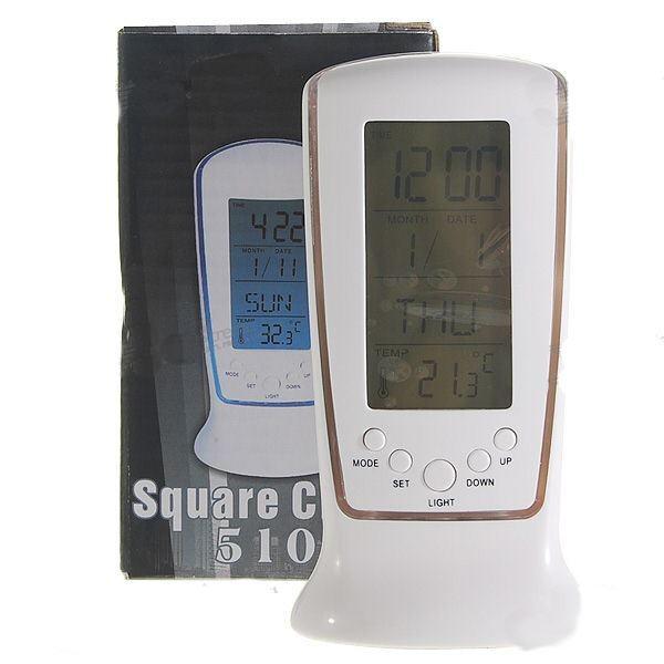 Laikrodis Žadintuvas + Kalendorius + Termometras
