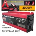 Sinusinis 1500W (3000W) Automobilinis Įtampos Keitiklis - Konverteris (12V į 220V)