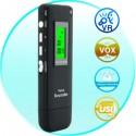Diktofonas Su VOX Balso Atpažinimo Funkcija (4Gb, MP3 Atkūrimas)
