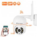 PTZ WIFI Lauko Apsaugos Kamera Techage (2MP, 1080P, ONVIF, P2P, Audio, Motion Detection)