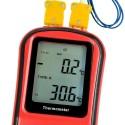 Termometras Aukštoms Temperatūroms Su Termopora (K-Tipo, 2 Kanalų) -50°C +1300°C