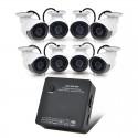 8 IP Apsaugos Kamerų Komplektas Su Įrašymo Įrenginiu NVR (720p, ONVIF)