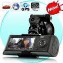 Videoregistratorius Su 2 Kameromis Blackbox (GPS, G-Sensor)
