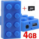 MP3 Grotuvas LEGO Block BLUE