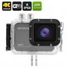 "Ultra HD 4K Veiksmo Kamera - 25FPS, 130 Filmavimo kampas, 16Mpx, 2"" Ekranas, Wi-Fi, iOS + Android apps, Waterproof 60m"