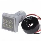 LED Skaitmeninis Voltmetras ir Ampermetras Kintamai Įtampai (60-500V AC, 0-100A)