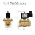 """12V Elektromagnetinis Vandens Vožtuvas 1"""" (Varinis, Natūraliai Uždaras, DN25, IP65, 0-10BAR, -5~80℃)"""
