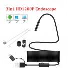 8mm USB Endoskopinė Kamera (10m laidas, IP68,  1600*1200, LED Apšvietimas)