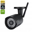 Belaidė Wi-Fi Lauko Apsaugos Kamera (720P HD, -40°C +60°C, NightVision, Judesio aptikimas, ONVIF 2.1, IP66, 8Gb Vidinė Atmintis)