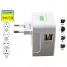 Universalus Kelioninis Adapteris (All-In-One, 2x USB 5V Jungtys)