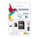 8GB ADATA Micro SD Atminties Kortelė Class10 Su Adapteriu