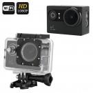 1080p Veiksmo Kamera Su Wi-Fi - 170° filmavimo kampas, HDMI, G-Sensorius, LED apšvietimas, 30FPS, Waterproof 30M